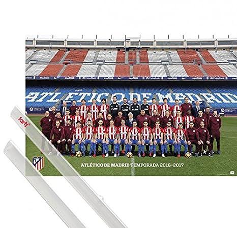 Amazon.com: 1art1 Football Poster and Frame (MDF) - Atletico ...