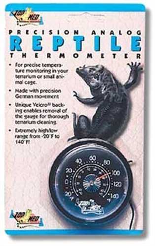 - Zoo Med Analog High Range Reptile Thermometer
