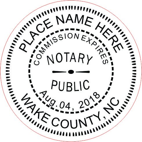 NEW IMPRUE Round Self-Inking NOTARY SEAL RUBBER STAMP - North Carolina