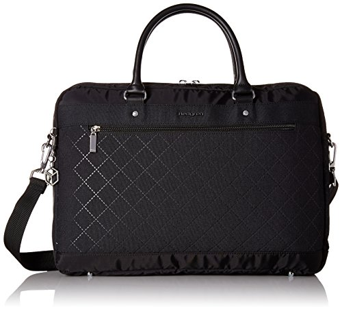 Hedgren Diamond Star Opal Briefcase Business Tote, 15.6'' Laptop Bag with Trolley Sleeve, 15.6 x 1.5 x 10.5 Inches, Womens, Black by Hedgren