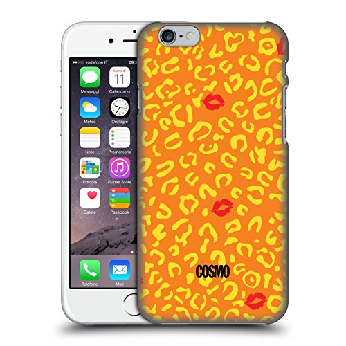 Official Cosmopolitan Orange Sassy Leopard Hard Back Case for Apple iPhone 6 / 6s