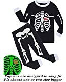 Dolphin&Fish Girls Boys Halloween Pajamas Kids Pjs Skeleton Glow-in-The-Dark Toddler Halloween Clothes 7t