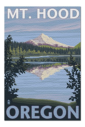 (Lost Lake, Oregon - Mt. Hood (20x30 Premium 1000 Piece Jigsaw Puzzle, Made in USA!))