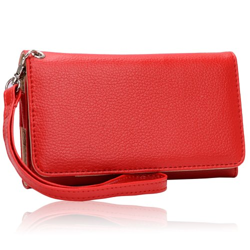 universal-smart-phone-wristlet-wallet-carry-case-purse-cover-w-strap-for-samsung-avant-red