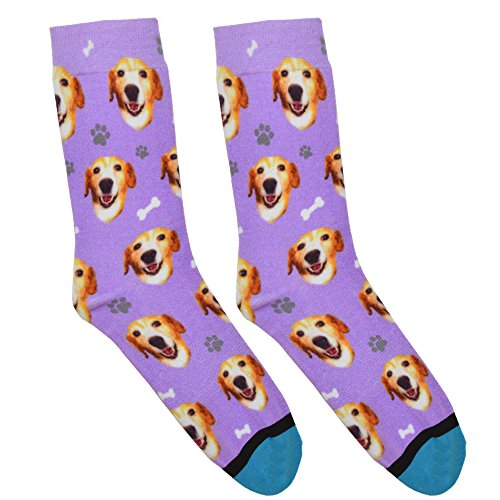 Custom Dog Socks - Put Your Dog on Socks! (Small, Lavender)