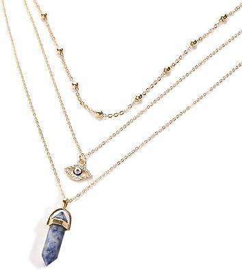 collier ras de cou or et pierre