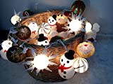 Cotton Balls Christmas set Fairy String Wedding Valentine Party Lights Christmas Decor Patio 20 Lights By' Thai decorated