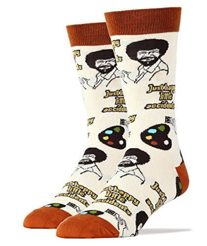 Oooh Yeah Socks Men's Luxury Combed Cotton Funny (Happy Lil Accidents),Large (Christmas Near Shops Me Tree)