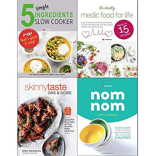Book cover from Skinnytaste One and Done[hardcover],skinny Nom Nom cookbook, 5 Simple Ingredients Slow Cooker, Healthy Medic Food 4 Books Collection Set by CookNation