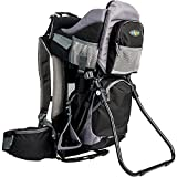 ClevrPlus Canyonero Camping Baby Backpack Hiking Kid Toddler Child Carrier with Stand and Sun Shade Visor, Midnight Black | 1 Year Limited Warranty
