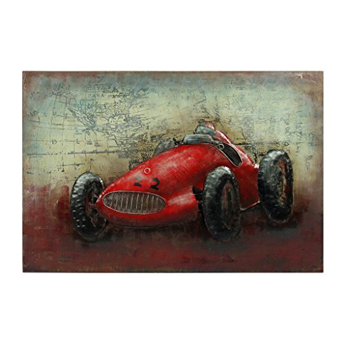 Empire Art Direct ''Le Mans'' Mixed Media Hand Painted Iron Wall Sculpture by Primo by Empire Art Direct