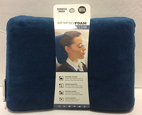 sharper-image-rate-1-memory-foam-travel-pillow-blue