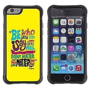 "Pulsar iFace Series Tpu silicona Carcasa Funda Case para Apple (4.7 inches!!!) iPhone 6 , Texto Funky trullo Yellow Sea Mensaje Inspirador"""