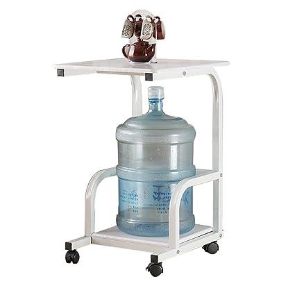 PENGFEI Mesa Portátil Ordenador Multifunción Estante Dispensador De Agua Estante Sofá Mesa Auxiliar con Polea,