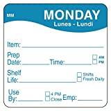 """DayMark Safety Systems-IT1122121 Day of The Week 2"""" x 2"""" Removable Label, Monday (Roll of 500)"""