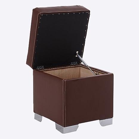 Amazon.com: RKY Coffee Color Storage Stool Shoe Bench Foyer ...