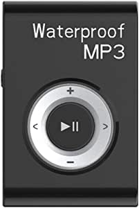 GZCRDZ IPX8 Waterproof Swimming MP3 Player Built-in 8GB MP3 Music with FM Radio Hi-Fi Headphone for Diving Surf Underwater Sports Running (Black)
