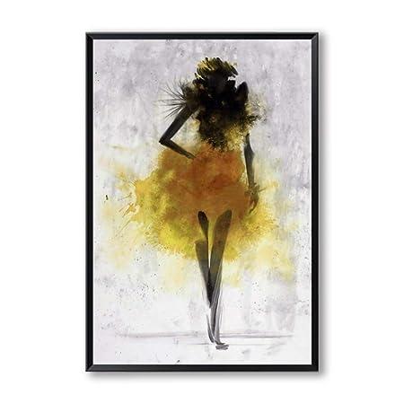 LiMengQi Falda de Baile Ascott Mujer Pintura Abstracta Acuarela ...