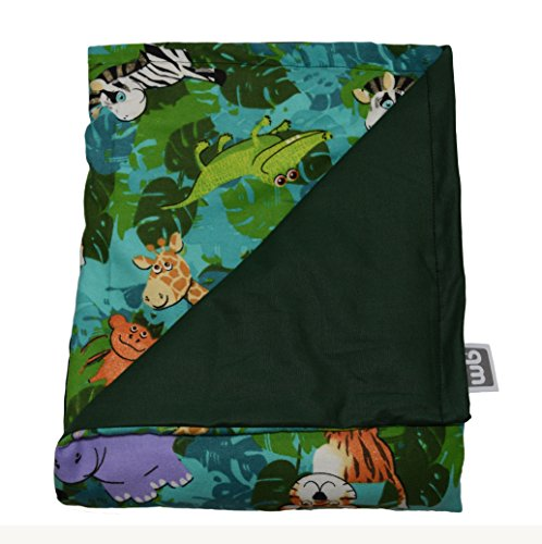 """Price comparison product image Weighted Blankets Plus LLC - THE ONLY APPROVED MANUFACTURER AND SELLER - Small Weighted Blanket - Cotton/Flannel - Jungle (48""""L x 30""""W) (7 lbs for 60 lb person) Proudly made in the USA!"""