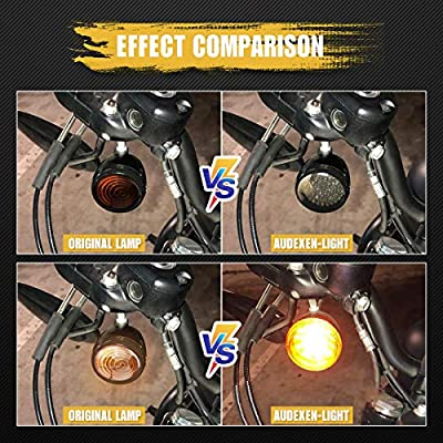 2 Inch Harley Turn Signals Bullet Style 1157 Front White DRL, Amber Turn Signal LED Inserts for Harley Softail 2011-2020 Dyna 2012-2020 Sportster Touring 2014-2020: Automotive