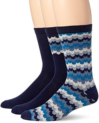 WeSC Men's Knitted 3 Pack Socks, Navy Blazer, 42-45 by WeSC (Image #1)'