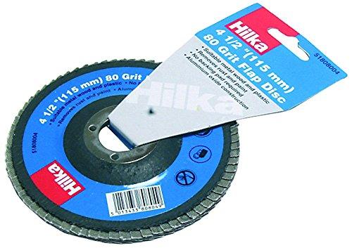 Hilka Tools 51808004 80 Grit Flap Disc, 0 V, Silver, 4 1/2-Inch