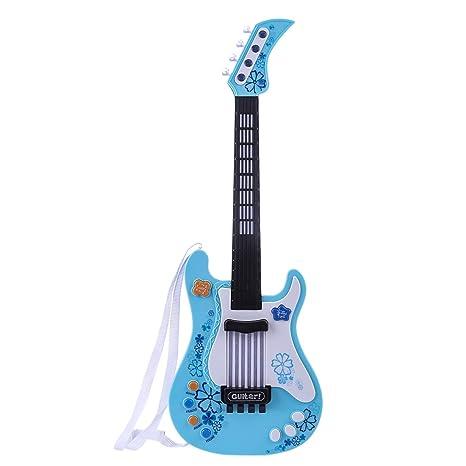 Foxom Guitarra Electrica Niños - Infantil Guitarra Rock Guitarra Juguetes Sin Cuerdas - Instrumento Musical para