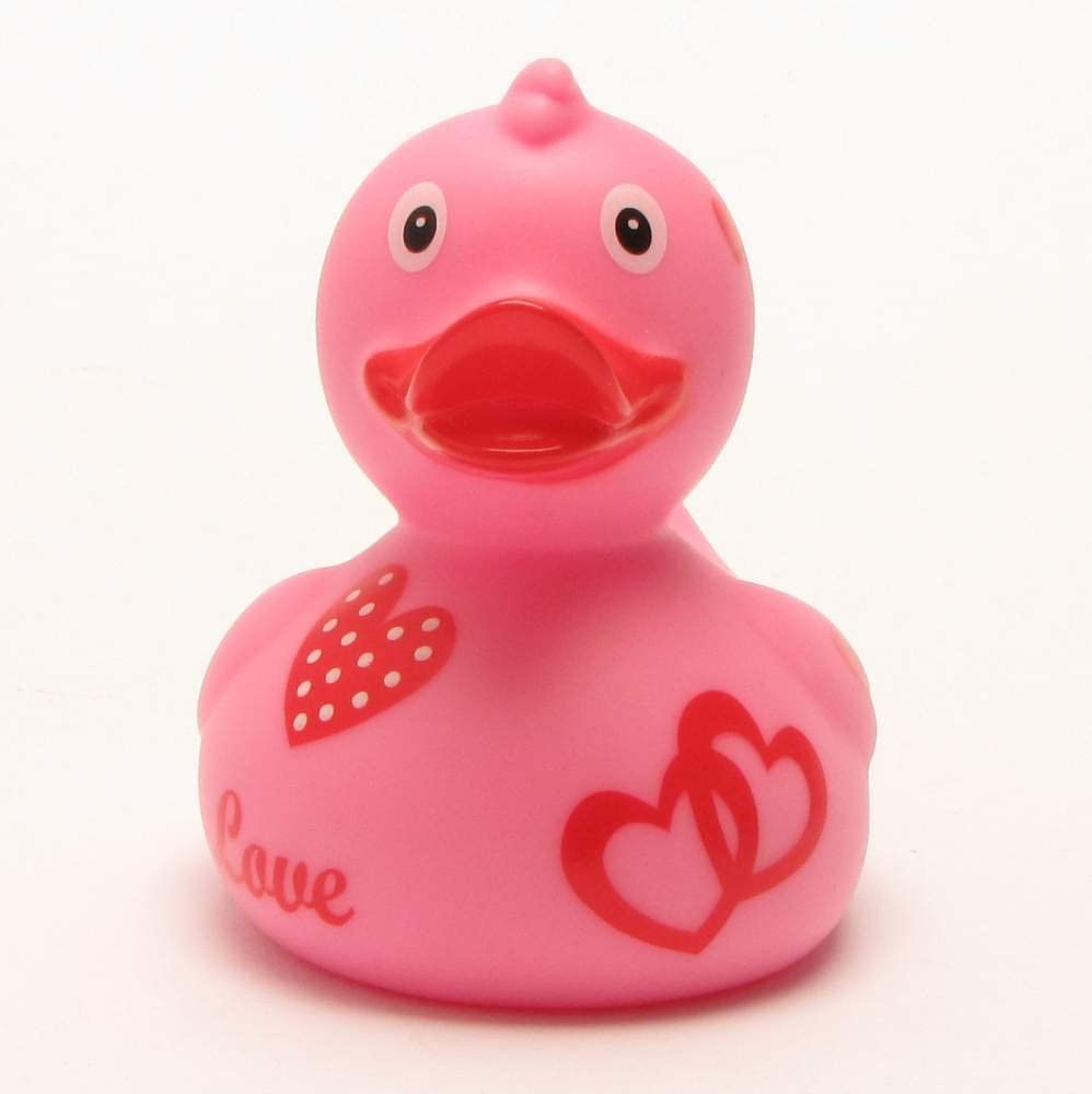 8,5/cm Duck Boutique I Canard de bain avec c/œurs roses I Canard de bain I L