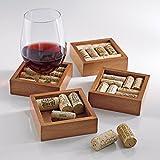 Wine Enthusiast Wine Cork Coasters Kit, Set of 4