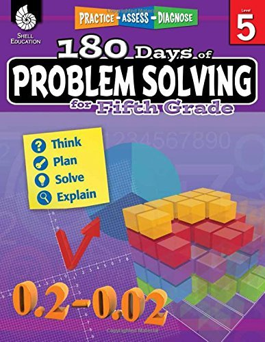180 Days of Problem Solving for Fifth Grade (180 Days of Practice) by Stacy Monsman (2016-10-03)