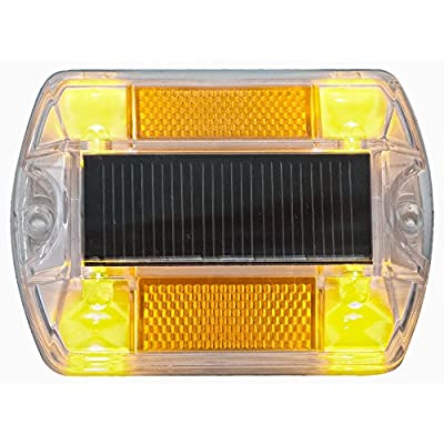 Yellow Polycarbonate Solar Road Stud Path Deck Dock LED Light : Other Products : Garden & Outdoor