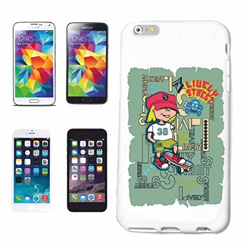 """cas de téléphone iPhone 7 """"BOY AVEC SKATEBOARD SKATEBOARDER LONGBOARD FREESTYLE SKATER"""" Hard Case Cover Téléphone Covers Smart Cover pour Apple iPhone en blanc"""