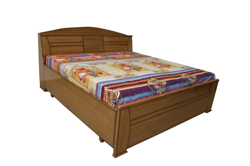Adlakha Furniture Teak Wood Double Bed With Storage: Amazon.in: Home U0026  Kitchen