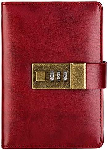 Fanuse Weinrot A7 Archaistisch Pocket Notebook Journal Programm Agenda Tagebuch Buch Passwort Sperre BüRo Bedarf Student Kreatives Briefpapier