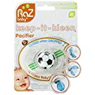 Razbaby Keep-It-Kleen Pacifier, Soccer Ball, 0-36 Months