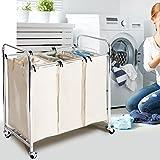 Seville Classics Mobile 2-Bag Compact Laundry