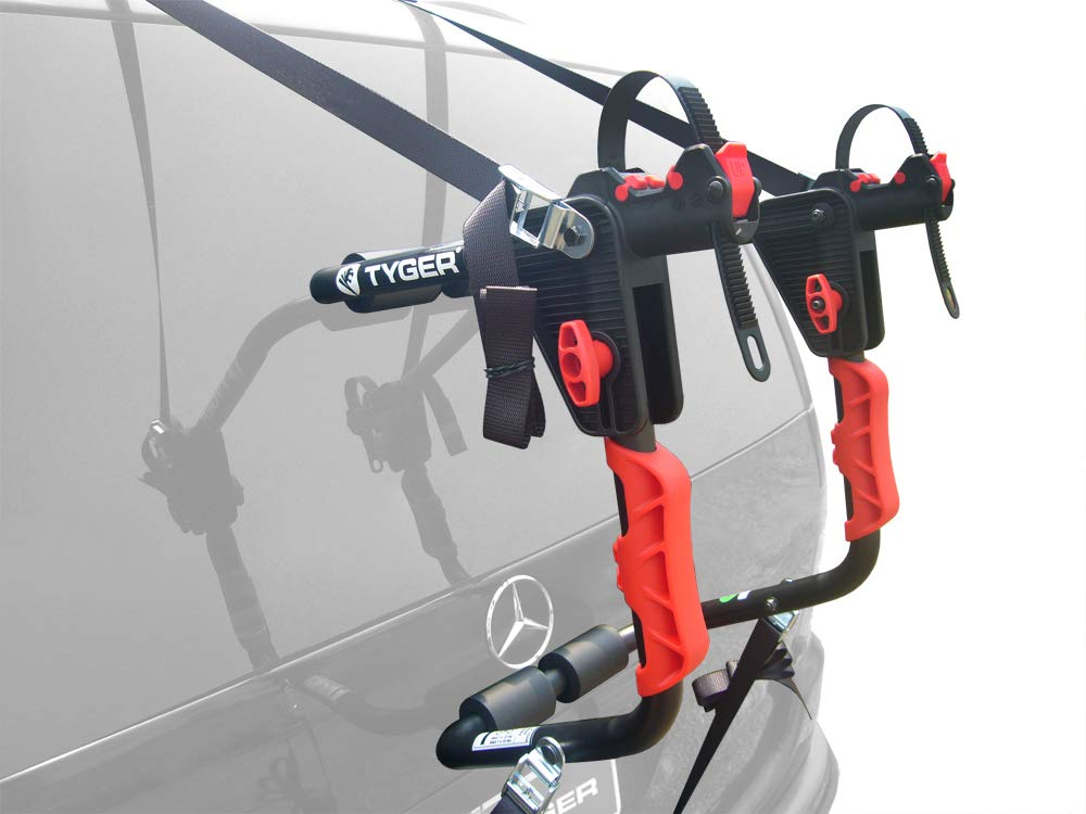 Tyger Auto TG-RK1B204B Deluxe Black 1-Bike Trunk Mount Bicycle Carrier Rack. Fits Most Sedans Hatchbacks Minivans and SUVs.