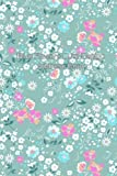 Blue Flowers Cute Design Address Book (Address Books) (Volume 7)