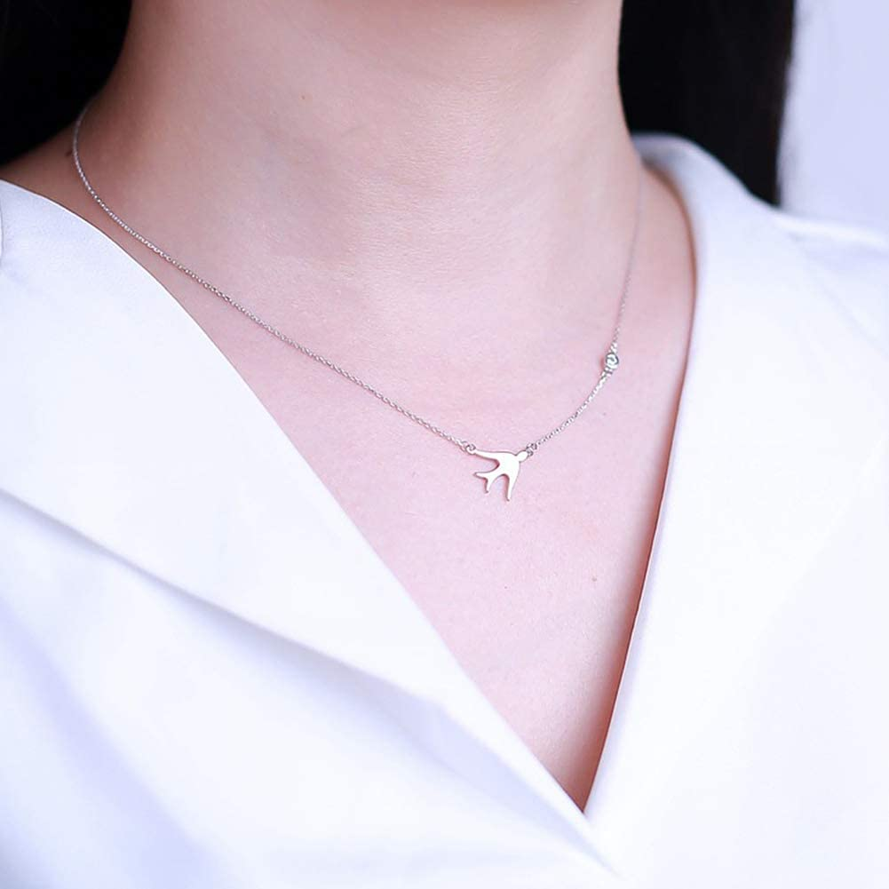 34th Birthday Gifts for Women Funny 34th Birthday Gifts for Women 925 Sterling Silver Womens Swallow Necklace 34 Year Old Birthday Gifts for Women