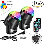 2 Pack Party Lights, Aonesy Sound Activated Mini LED Stage Magic Light with Remote Control,7 Colors RBG Strobe Crystal Disco Ball DJ Light For KTV Xmas Wedding Show Club Pub Karaoke Nightclub