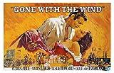 Gone With the Wind Movie Art Print — Movie Memorabilia — 11x17 Poster, Vibrant Color, Features Vivien Leigh, Clark Gable, Leslie Howard, Olivia de Havilland.