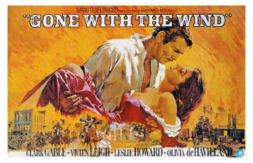 Gone With the Wind Movie Art Print — Movie Memorabilia — 11x17 Poster, Vibrant Color, Features Vivien Leigh, Clark Gable, Leslie Howard, Olivia de - Poster Gable Movie