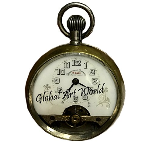 Antiques World Orator (Hebdomas) Patent 8 days - Swiss - 1930 Antique Collectible Time-Piece Genuine Vintage Marine Time Pocket Watch Clocks/Clock AWUSAHB 0232