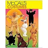 McCall's Patterns M6106 Adults'/Kids' Animal Costumes, Size CE (3-4-5)
