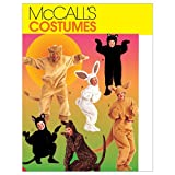 McCall's Patterns M6106 Adults'/Kids' Animal Costumes, Size CL (6-7-8)