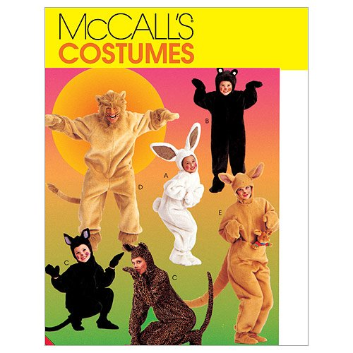 McCall's Patterns M6106 Adults'/Kids' Animal Costumes, Size SML -