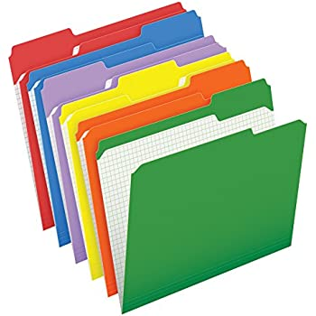 Pendaflex color file folders with interior grid letter size assorted colors 1 3 for Pendaflex interior file folders