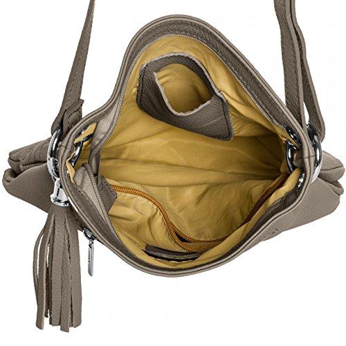 CASPAR Fashion - Bolso al hombro para mujer Marrón - caqui