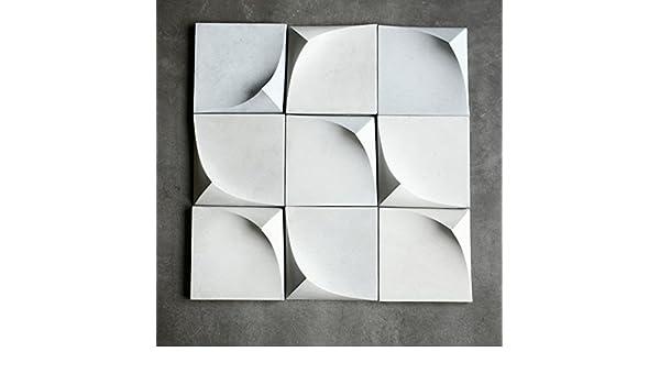 Moldes de silicona para pared de jardín, herramientas decoradas con piedra de hormigón, moldes para arte y manualidades, 12 x 14 cm, molde de ladrillo para ...