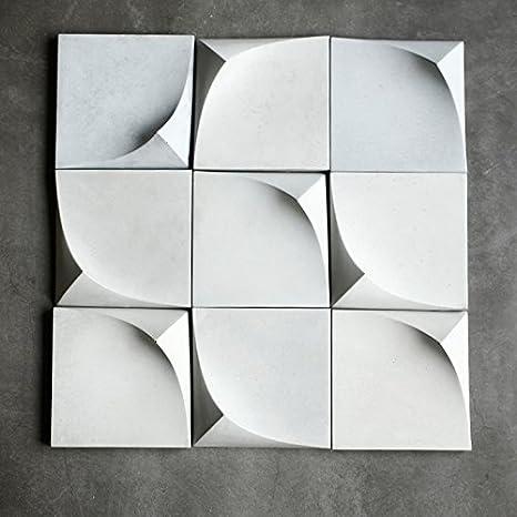 Moldes de silicona para pared de jardín, herramientas decoradas con piedra de hormigón, moldes